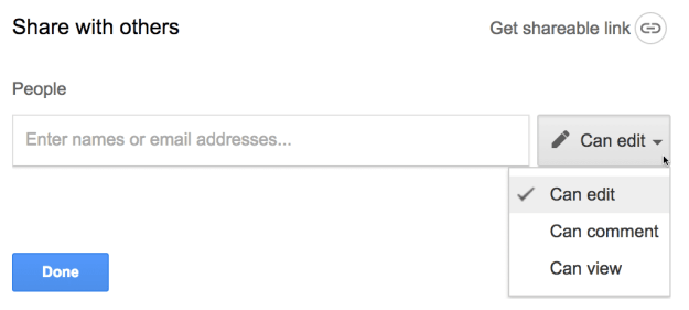 share a google doc explicitly by typing in an email address
