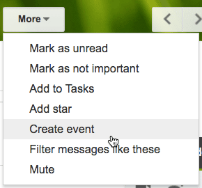 gmail add to calendar