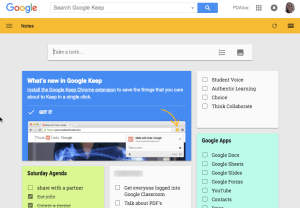 google keep example
