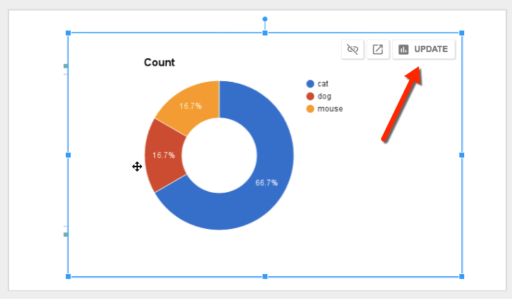 update the chart in Google Slides