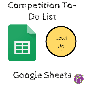 Competition To-Do list