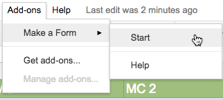 make a form add on menu
