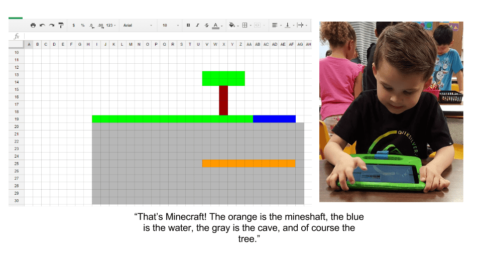 tk boy minecraft spreadsheets Kindergarten Log into Google Classroom