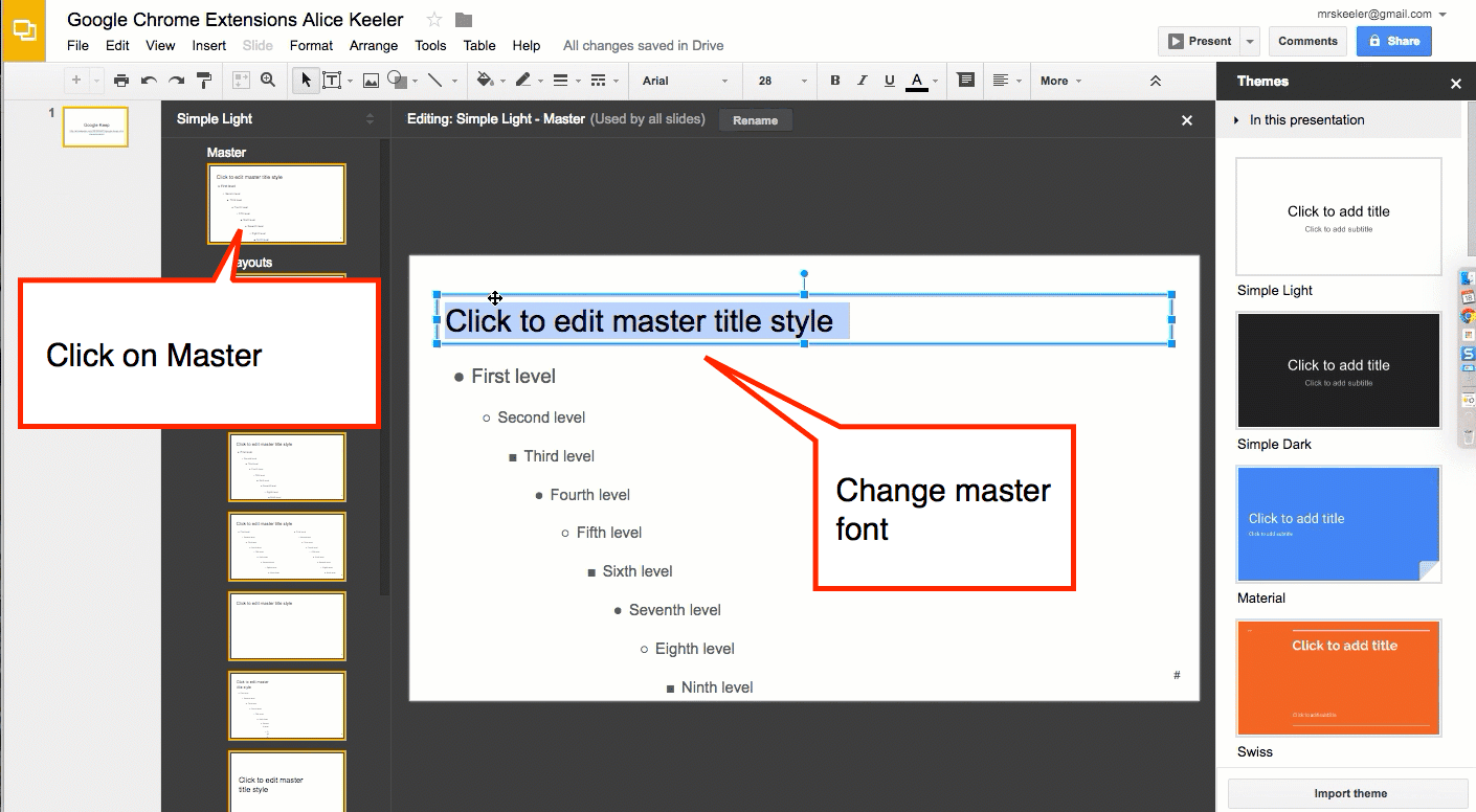 google slides edit the slide master teacher tech