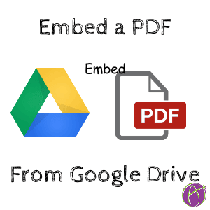 embed a pdf from google drive