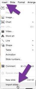 Import slides from Google Slides
