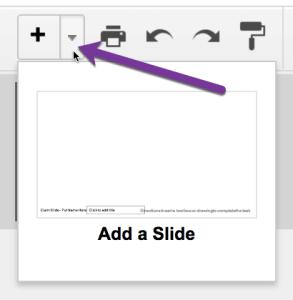 add a slide in Google Slides