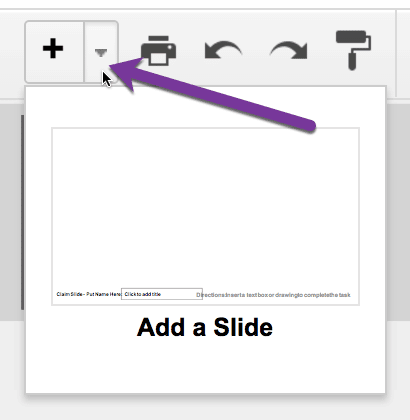 add a slide in Google Slides