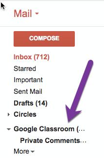 Google Classroom label