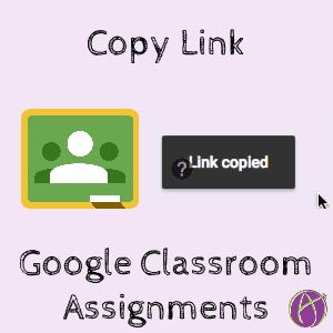 google classroom copy link