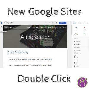 new google sites double click