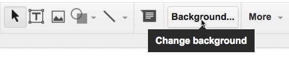 background button in Google Slides