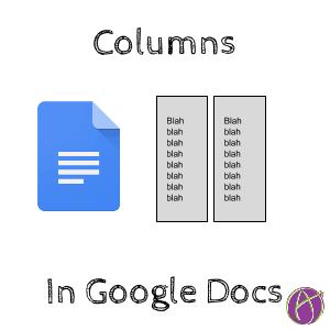 columns in google docs