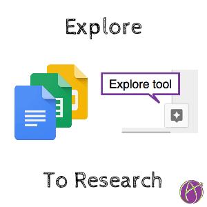 explore tool in google docs