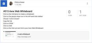 add assignment to Google Classroom for awwapp.com