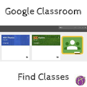 google classroom find classes