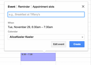Appointment slots on Google Calendar