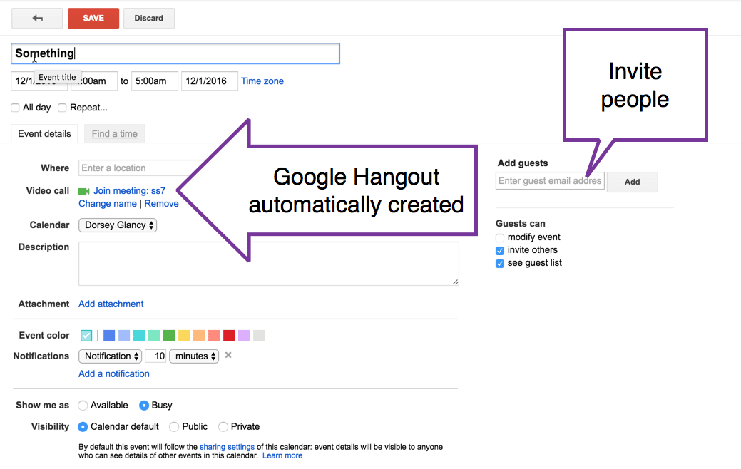 Use Google Hangout