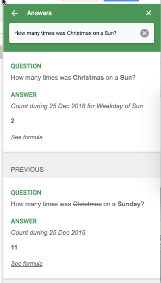 how many days did Christmas fall on a Sunday