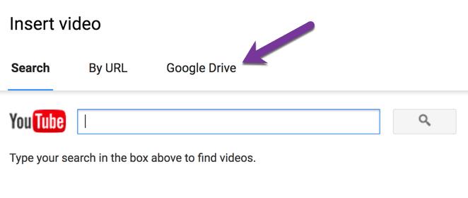 Insert Video by Google Drive