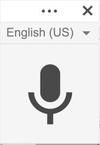 Voice Record in the speaker notes