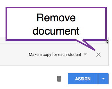 Remove the linked document