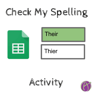 Check my spelling activity teacher tech check my spelling activity ccuart Image collections