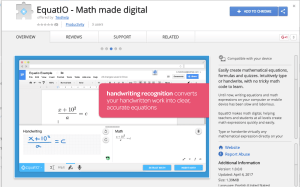 equatio in the Chrome webstore