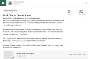 DOK 2 Context Clues
