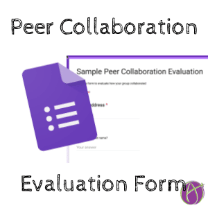 peer collaboration evaluation form