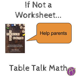 table talk math help parents