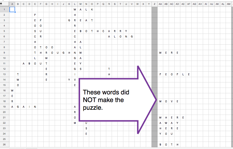add the puzzle words back