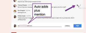 auto adds plus mention