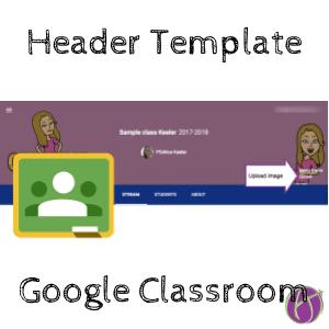 Google Classroom header template