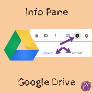 Info pane in Google Drive