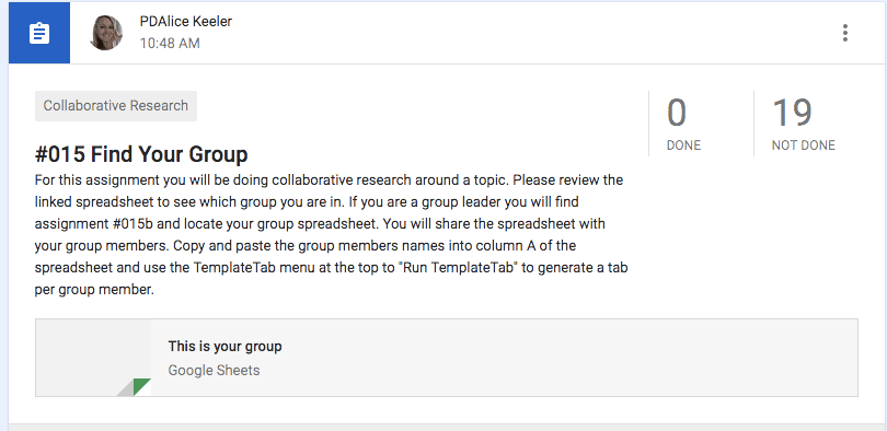 Find your group assignment