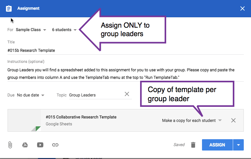 Just for the group leaders
