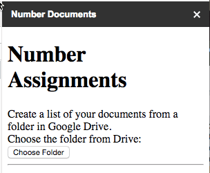 Number documents sidebar