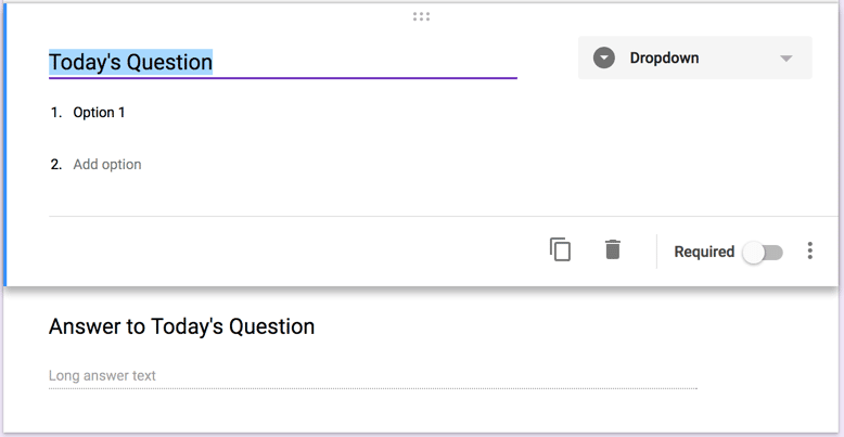 what is todays question