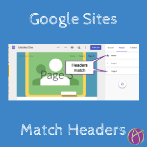Google Sites match headers