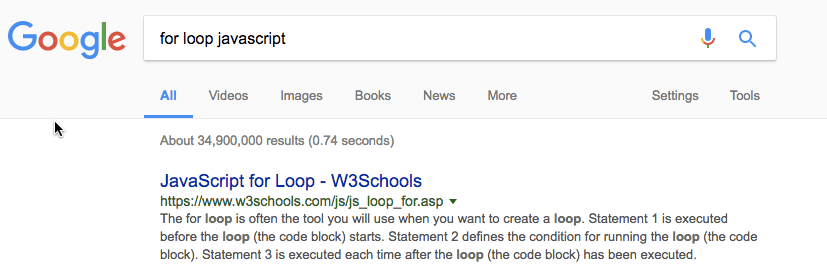 for loop javascript