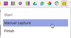 manual capture screenshot