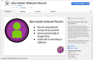 Add to Chrome Alice Keeler Webcam Record