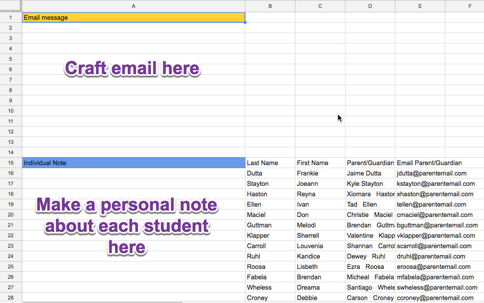 Draft an email and a personal note
