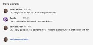 Private Comments Conversation
