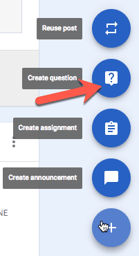 Ask a question Google Classroom