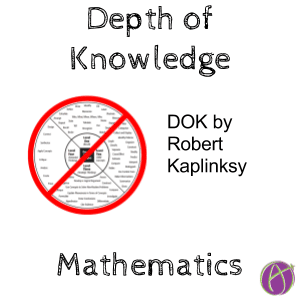 depth of knowledge mathematics