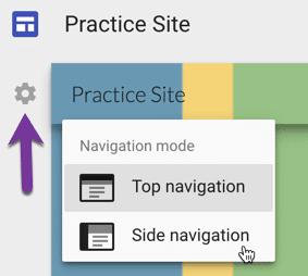 Change navigation