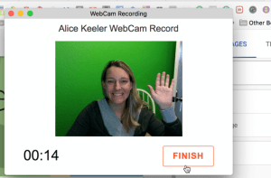Record a webcam to Google Drive