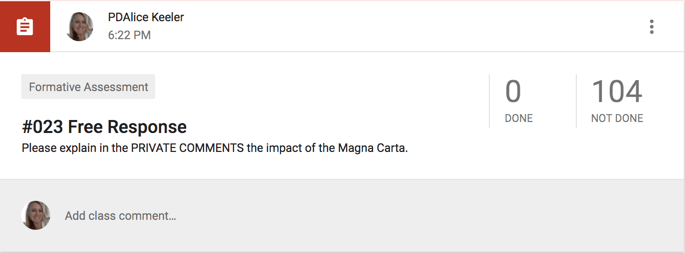 Answer about the magna carta in the private comments